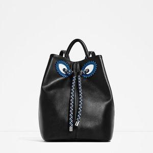 ZARA | Contrasting Cord Monster backpack